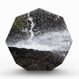Detail of a small waterfall award