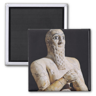 Detail of a statue of Itur-Shamagen 2 Inch Square Magnet