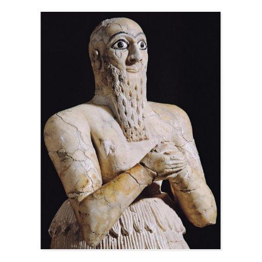 Detail of a statue of Itur-Shamagen Postcards