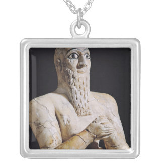 Detail of a statue of Itur-Shamagen Silver Plated Necklace
