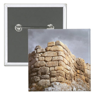 Detail of a stone wall 2 inch square button