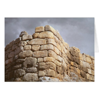 Detail of a stone wall greeting card