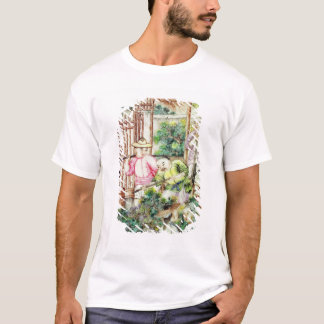 Detail of a vase with men watering tea plants T-Shirt