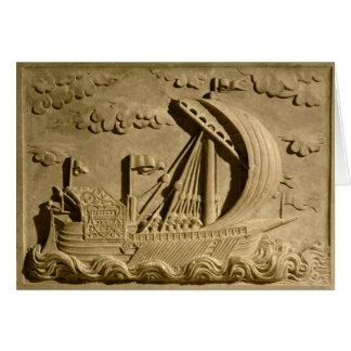 Detail of a Venetian warship Card