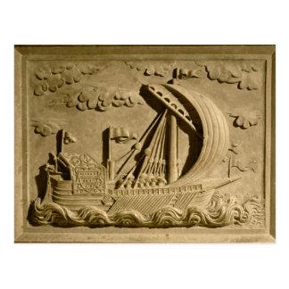 Detail of a Venetian warship Postcard
