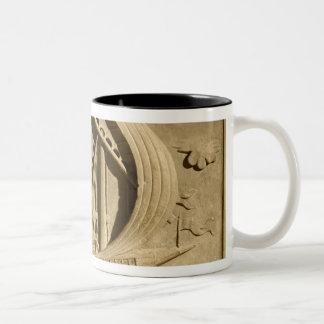 Detail of a Venetian warship Two-Tone Coffee Mug