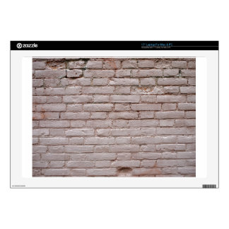 """Detail of a wall of the old beige clay bricks 17"""" laptop decal"""