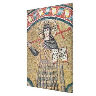 Detail of a Warrior Christ Canvas Print