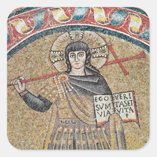 Detail of a Warrior Christ Square Sticker