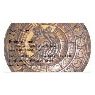 Detail of Ancient Mayan Calendar Business Card