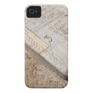 Detail of ancient stone dial sundial closeup iPhone 4 case
