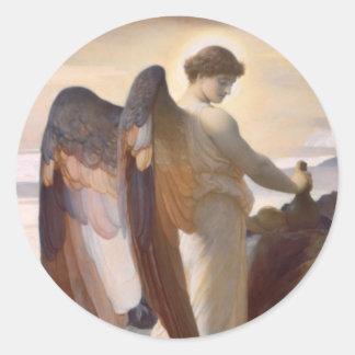 Detail of Angel, Elijah in the Wilderness Classic Round Sticker