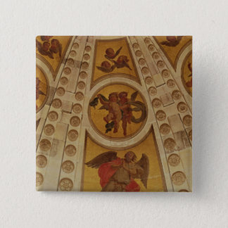 Detail of angels from the dome, built 1635-42 pinback button