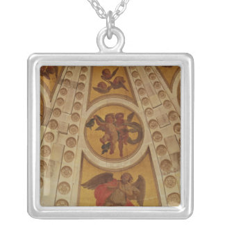 Detail of angels from the dome, built 1635-42 silver plated necklace