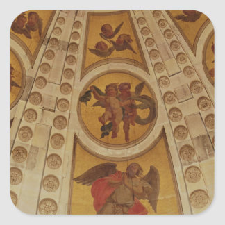 Detail of angels from the dome, built 1635-42 square sticker
