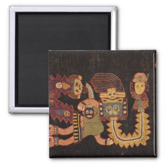 Detail of Burial cloth, Paracas Tribe 2 Inch Square Magnet