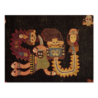 Detail of Burial cloth, Paracas Tribe Postcard