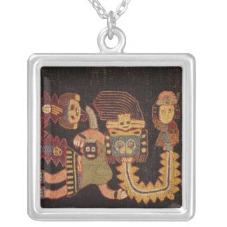 Detail of Burial cloth, Paracas Tribe Silver Plated Necklace