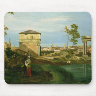 Detail of 'Capriccio with Motifs from Padua' Mouse Pad
