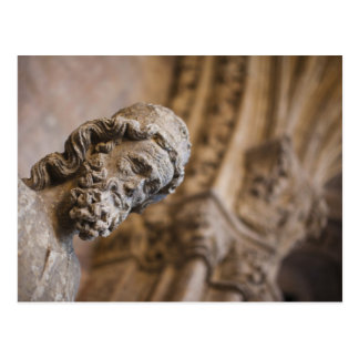 Detail of cloisters Patriarch Zacarias statue Postcard
