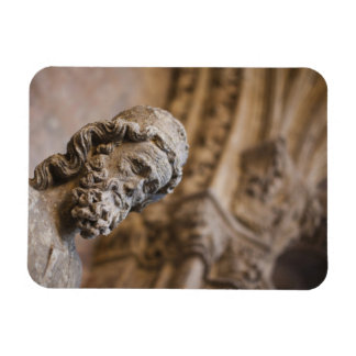 Detail of cloisters Patriarch Zacarias statue Rectangular Photo Magnet