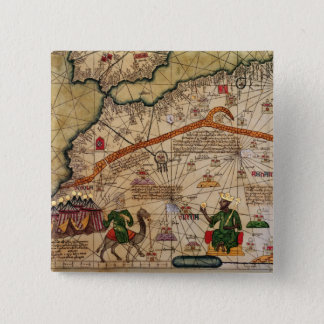 Detail of Copy of a Catalan Map of Europe Button