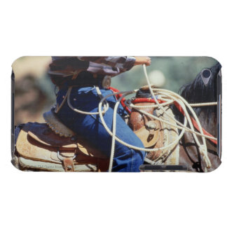Detail of cowboy on horseback barely there iPod case