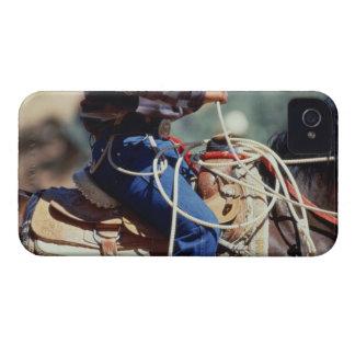 Detail of cowboy on horseback iPhone 4 Case-Mate case