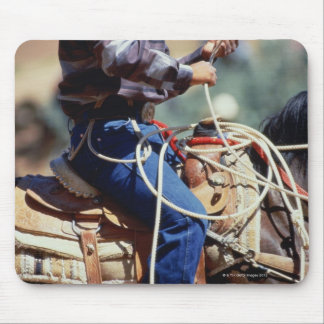 Detail of cowboy on horseback mouse pad