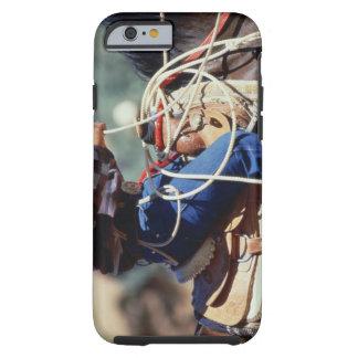 Detail of cowboy on horseback tough iPhone 6 case