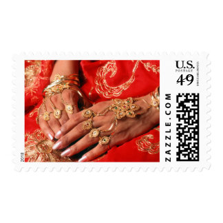 Detail Of Elaborate Jewelry Postage Stamp