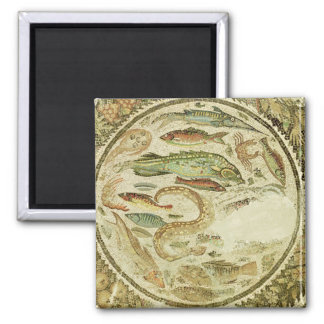 Detail of fish, The Four Seasons, from Vega Baja 2 Inch Square Magnet
