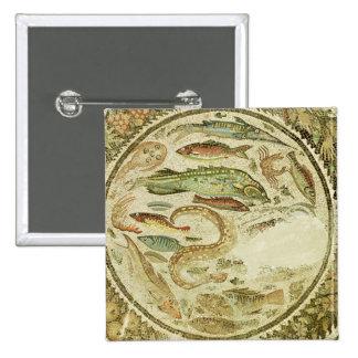 Detail of fish, The Four Seasons, from Vega Baja Button