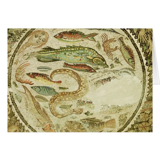 Detail of fish, The Four Seasons, from Vega Baja Greeting Card