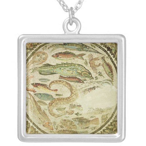Detail of fish, The Four Seasons, from Vega Baja Personalized Necklace