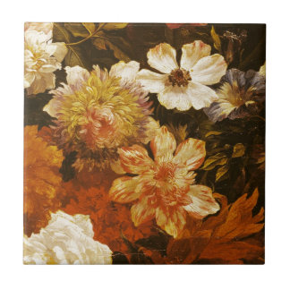 Detail of Flowers (oil on canvas) Small Square Tile