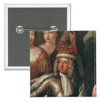 Detail of George I from the Painted Hall Pinback Button