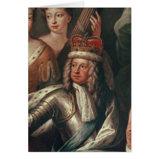 Detail of George I from the Painted Hall Card