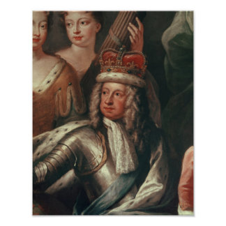 Detail of George I from the Painted Hall Poster