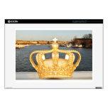Detail of golden crown bridge in Stockholm, Sweden Skins For Laptops