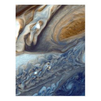Detail of Jupiter's Atmosphere Great Red Spot Postcard
