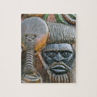 Detail of Kanak totem pole, Noumea, New Jigsaw Puzzle