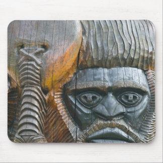 Detail of Kanak totem pole, Noumea, New Mouse Pad