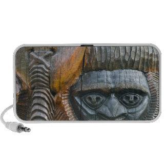 Detail of Kanak totem pole, Noumea, New Portable Speaker