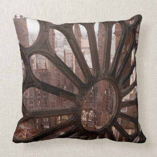 Detail of La Sagrada Familia, Barcelona, Spain Throw Pillow