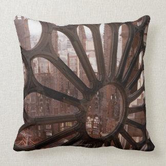 Detail of La Sagrada Familia, Barcelona, Spain Throw Pillow