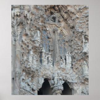 Detail of La Sagrada Familia in  Barcelona Poster