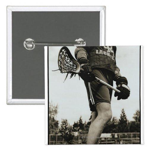 Detail of Lacrosse Athlete Button