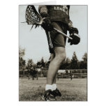 Detail of Lacrosse Athlete Greeting Cards