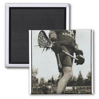 Detail of Lacrosse Athlete Magnet